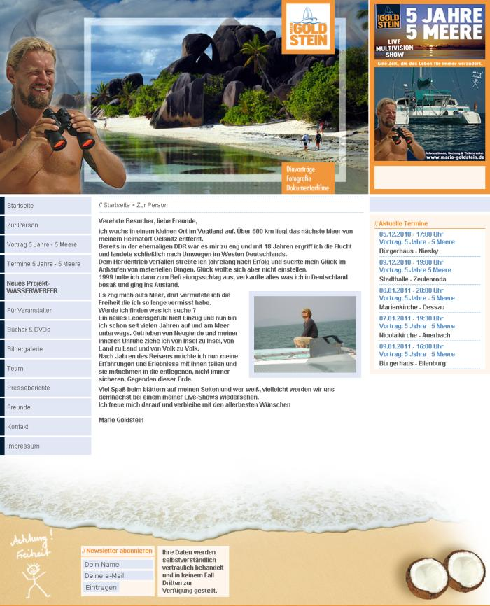 Mario-Goldstein-Homepage