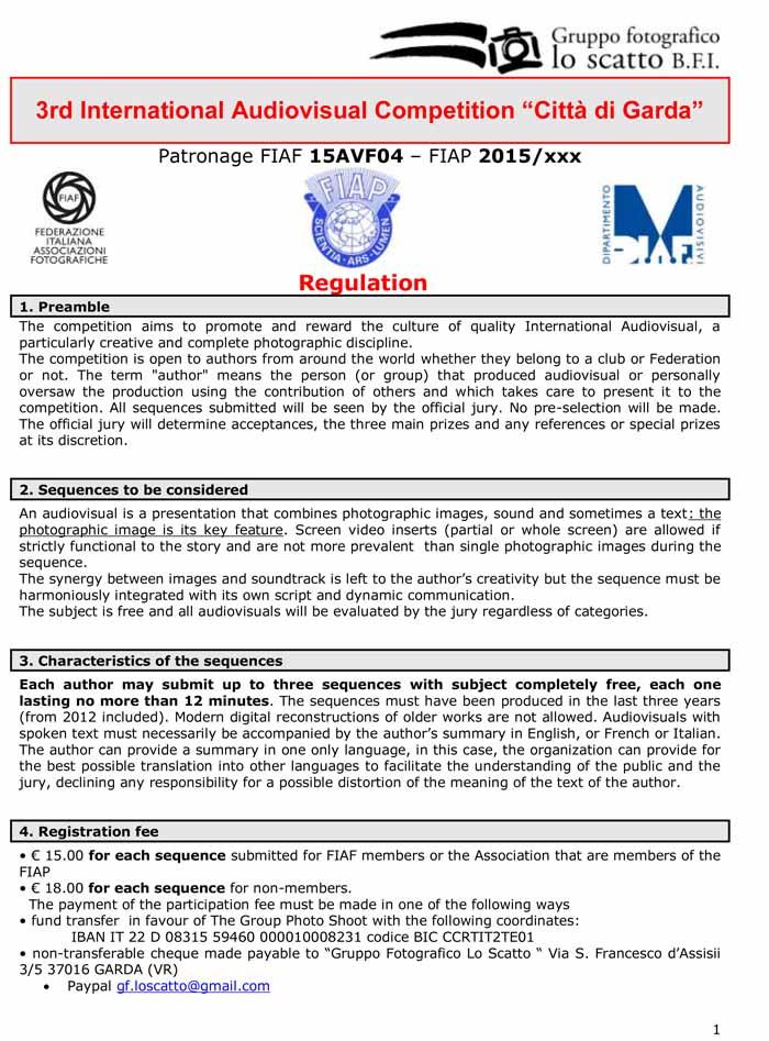 Regulation garda E-2015-1