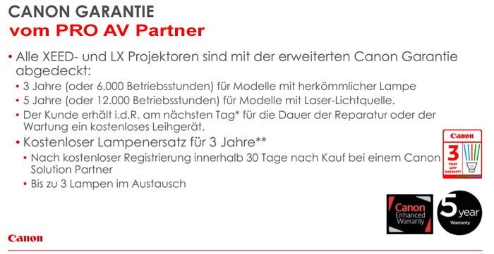 Pro-AV-Partner Garantie