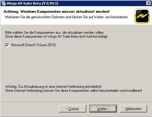 Wings_DirectX9_Warnung
